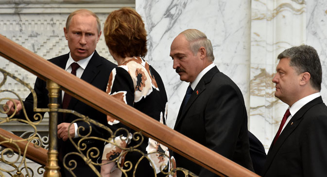 The summit in Minsk was held on August 26. Source: AFP / East News