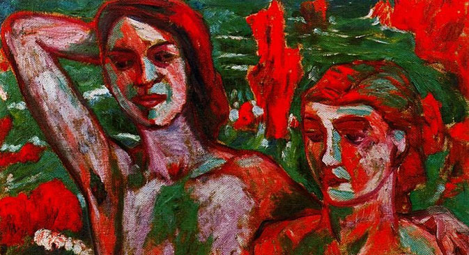 Mikhail Larionov 'Red Bathers.' Source: Alexandra Tomilina, widow of M. Larionov