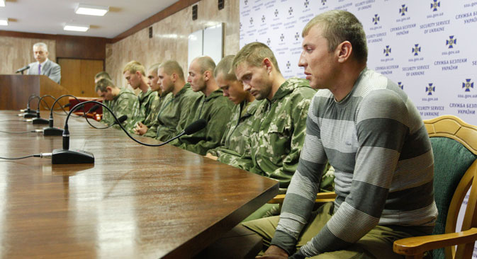 The Russian paratroopers said they did not know how they had ended up on Ukrainian territory. Source: Reuters