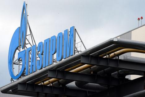 Gazprom logo. Source: ITAR-TASS
