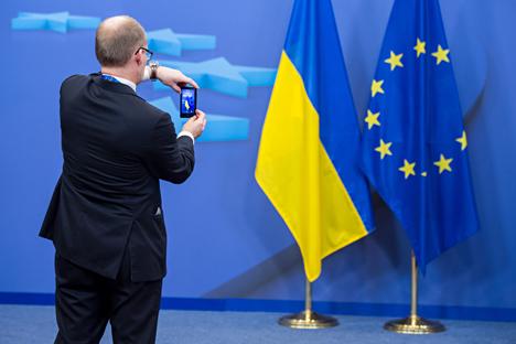 Experten werten Aufschub des Freihandelsabkommens als Sieg für Russland. Foto: AP