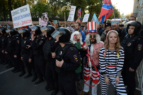 Peace March took place in Moscow on Sunday. Source: RIA Novosti