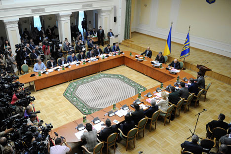 The law on special status for the Donbass was passed by Ukrainian Parliament on Sep. 16. Source: Reuters