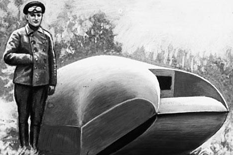 Imagem de protótipo do tanque 'vezdekhod', em 1915 Foto: TASS
