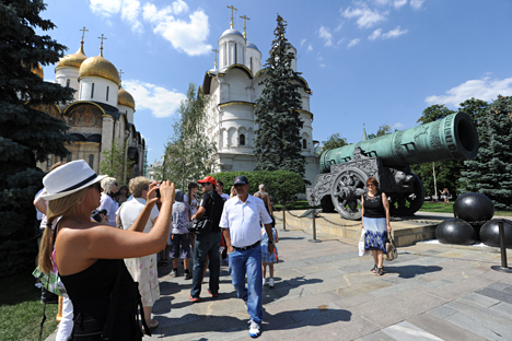 Canhão do Tsar é uma das principais atrações do Kremlin de Moscou Foto: TASS