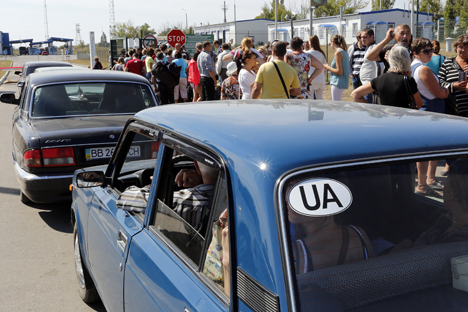 After waiting for the ceasefire, Ukrainian refugees are returning home. Source: ITAR-TASS