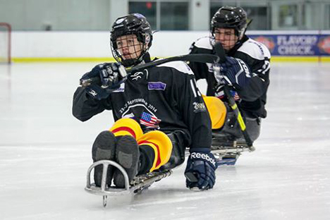 'Ladoga' is the only youth sledge hockey team in Europe. Source: Press photo