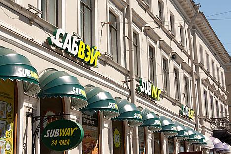 Russische Subway-Filialen erhalten Pepsi-Produkte künftig günstiger. Foto: Lori/Legion Media