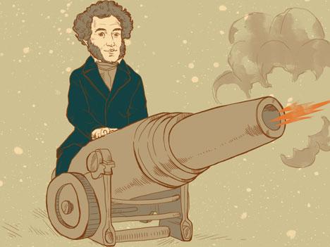 Alexander Pushkin. Drawing by Natalia Mikhaylenko