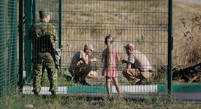 An der russisch-ukrainischen Grenze. Foto: AP