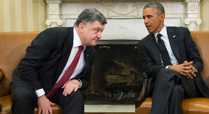 Washington promises Kiev political backing and financial support instead. Source: AP