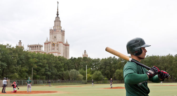 Moscow's Green Sox are regulars in the Russian championship games. Source: Mark Boyarsky
