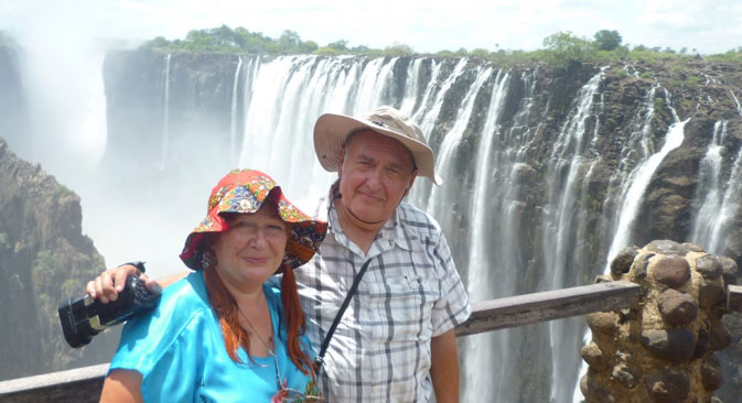 At the Victoria Falls. Source: Personal Archive