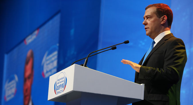 Prime minister outlines goals for Russian economy at Sochi Investment Forum. Source: RIA Novosti/Ekaterina Shtukina