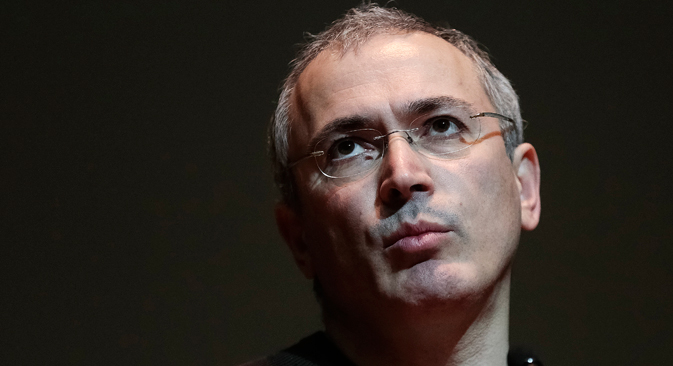 """""""When this government leads the country into a crisis, which will not take long, perhaps a few years, and if people will want to change the governmental system to a more modern one, at that stage I will be ready to carry out the work,"""" Khodorkovsky said. Source: Reuters"""