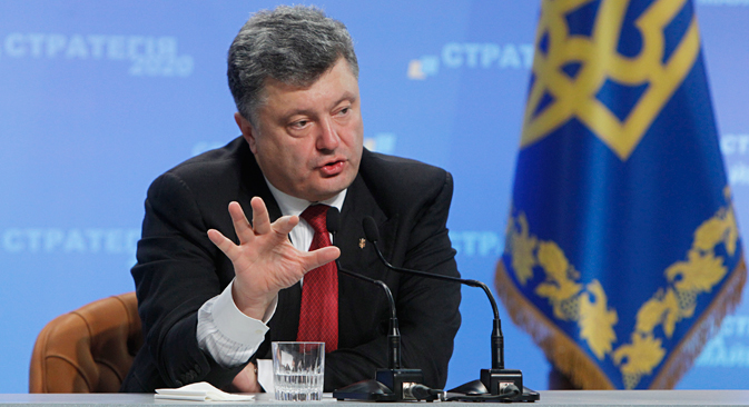 Ukrainian President Petro Poroshenko. Source: Reuters