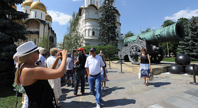 The Tsar Cannon in Moscow's Kremlin. Source: ITAR-TASS