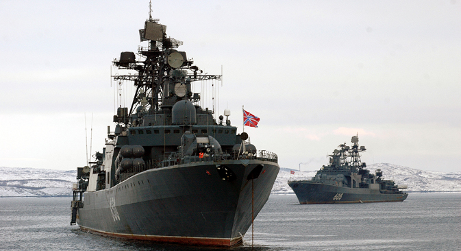 The large destroyer Admiral Levchenko. Source: ITAR-TASS