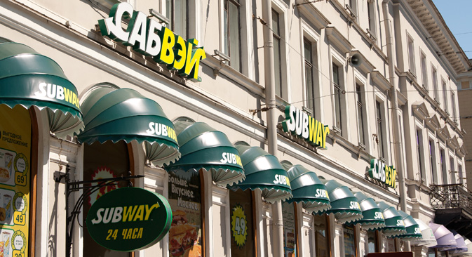 The Subway outlet in St. Petersburg. Source: Lori/Legion-Media