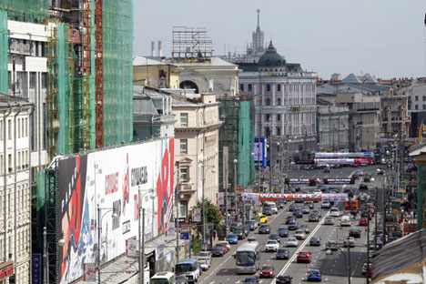 "Moscow is getting rid of  ""primitive"" advertising formats. Source: RIA Novosti / Anton Denisov"
