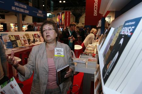 Natasha Perova at BookExpo America. Source: Valery Levitin / RIA Novosti