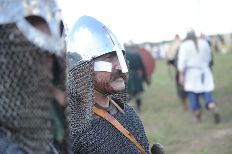 A participant in The Warrior's Field, an annual festival of history clubs, held in Drakino Park in the Serpukhovsky district. Source: RIA Novosti/ Kallinikov