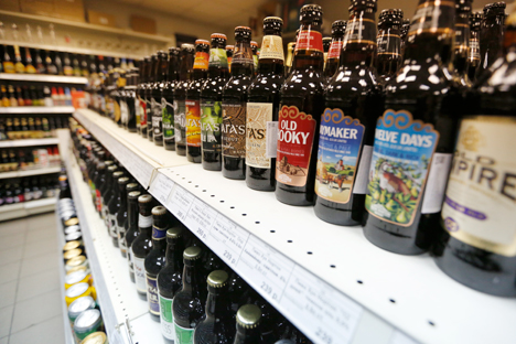 Fans of craft beer in Russia can only buy it in special stores. Source: Slava Petrakina