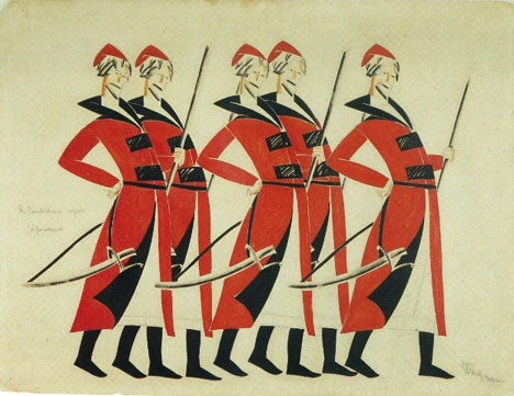 Vladimir Tatlin, Costume design for Life for the Tsar, 1913-1915. Source: A. A. Bakhrushin State Central Theatre Museum.