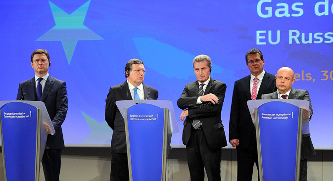 Russia, Ukraine and the European Commission on Thursday signed a binding protocol on the conditions of resumption of the supply of Russian gas to Ukraine for the period until late March 2015. Source: AFP / East News