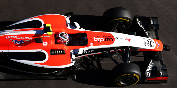 It has officially been announced that the Marussia Formula One team will withdraw from the upcoming U.S. Grand Prix in Austin. Source: Getty Images / Fotobank