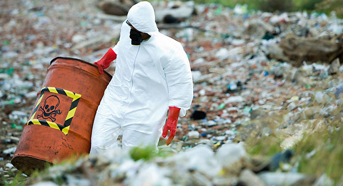 Russian consumer rights watchdog Rospotrebnadzor said some 2 billion tons of toxic industrial waste have accumulated in Russia. Source: AFP / East News