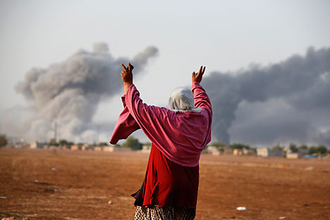 Kobani, also known as Ayn Arab, and its surrounding areas, has been under assault by extremists of the Islamic State group since mid-September and is being defended by Kurdish fighters. Source: AP