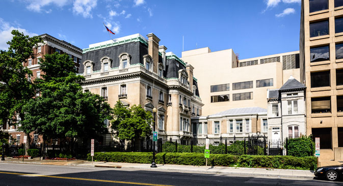 The ambassador's residence was previously the embassy for the Russian Empire, the USSR and modern day Russia. Source: Alamy / Legion Media