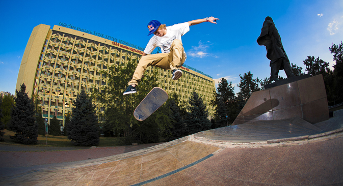 Major Russian skateboarder Maxim Kruglov. Source: Maxim Shatrov\Red Bull Content
