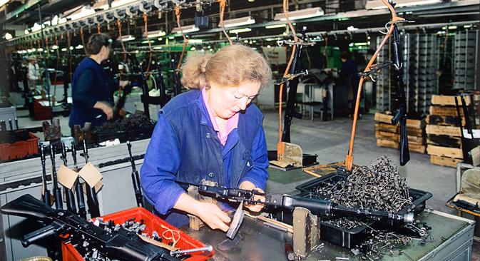 Production of AK-47, at the Izhevsk Machine Building Factory. Source: Vladimir Vyatkin / RIA Novosti