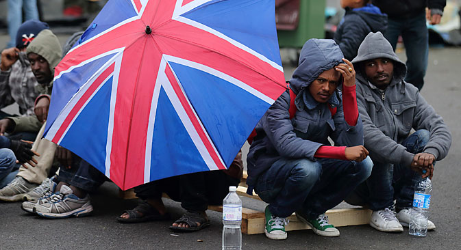No migrants from the EU in the UK? Source: Reuters