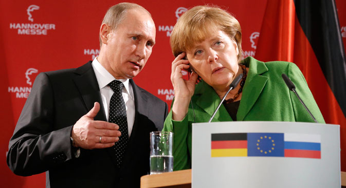 Russian President Vladimir Putin and German Chancellor Angela Merkel recently discussed Ukrainian crisis. Source: Reuters