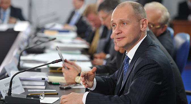 "Sergei Kiriyenko: ""The Russian nuclear industry is not a target of the sanctions"". Source: Ruslan Shamukov / TASS"