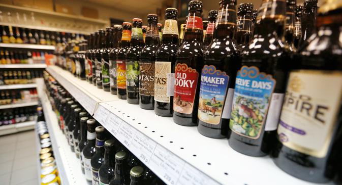 Influenciadas por americanos, cervejarias artesanais da Rússia começam a ganhar espaço nas prateleiras dos mercados Foto: Slava Petrákina
