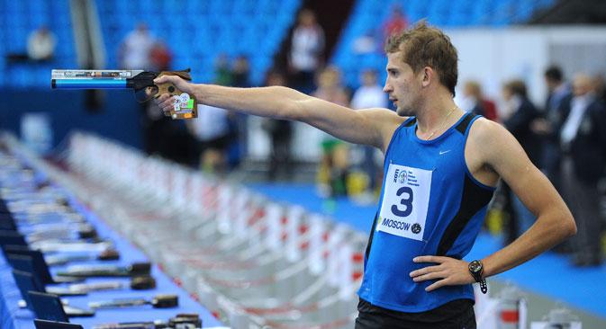 Alexander Lesun at the Modern Pentathlon European Championships. Source: TASS