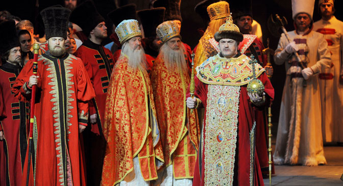 Deep and meaningful: the Mariinsky Theatre production of Mussorgsky's Boris Godunov, with bass-baritone Evgeny Nikitin the title role. Source: TASS