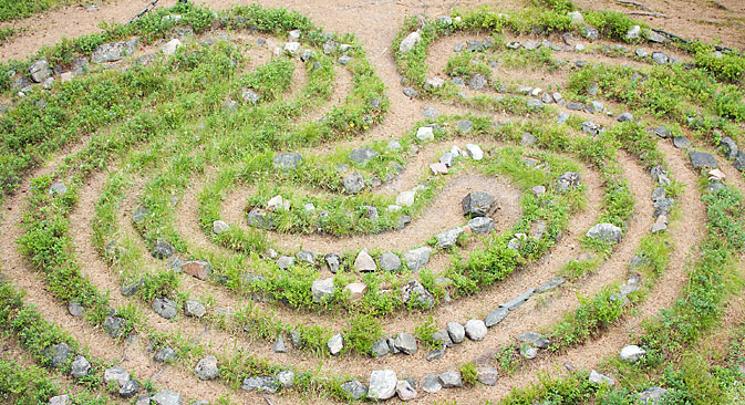 Mysterious stone labyrinths on the Kola Peninsula. Source: Lori/Legoion-Media
