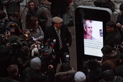 Empresa que erigiu monumento em homenagem a Steve Jobs decidiu demolir a peça Foto: Ígor Russak/RIA Nóvosti