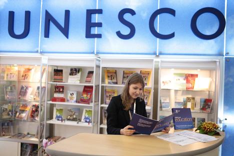 Fechamento da representação russa da Unesco poderá ter as consequências negativas para os ramos de pesquisa e conservação dos objetos históricos Foto: Ruslan Krivobok/RIA Nóvosti
