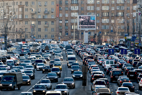 Moacow is stuck in traffic. Source: TASS
