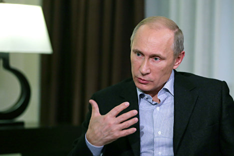"Vladimir Putin: ""We realize how ruinous an Iron Curtain will be for us."" Source: Mikhail Metsel / TASS"