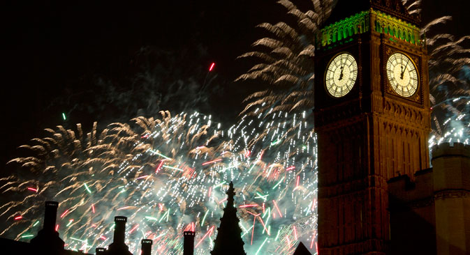Fireworks and New Year's Eve have long been a part of Russian life. Source: AP