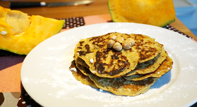 Pancakes from pumpkin puree. Source: Anna Kharzeeva