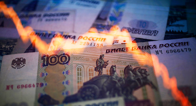 Decision sends Russia's flagging currency into freefall against dollar and euro. Source: Reuters