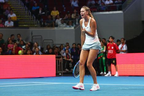 Sharapova conquistou dois pontos para a equipe russa nas quartas de final contra a Polônia da Fed Cup Foto: Getty Images/Fotobank